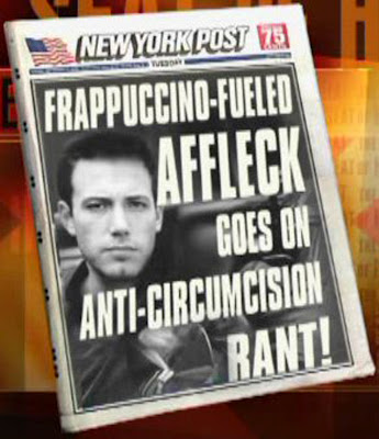 Ben Affleck rant against circumcision from Jon Stewart's The Daily Show