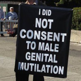 I did not consent to male genital mutilation - infant circumcision