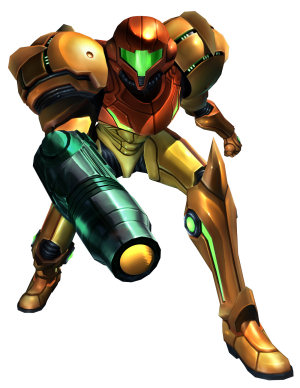 Metroid's Samus Aran ready for action