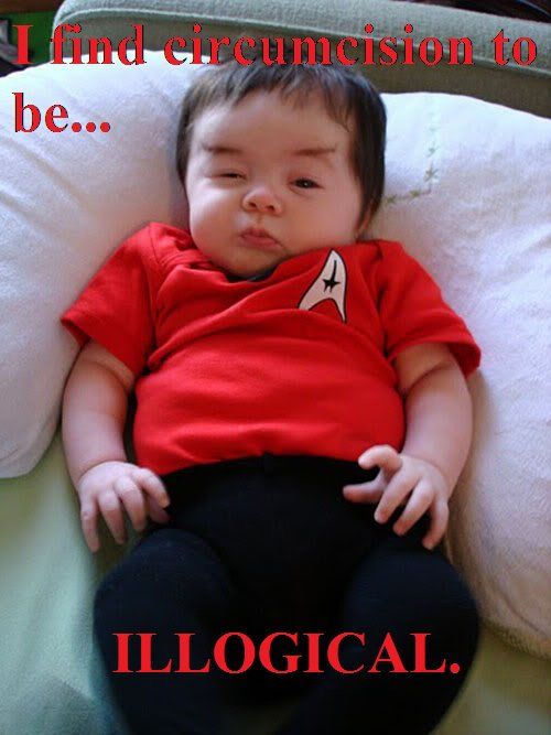 """I find circumcision to be . . . illogical."" So says Spock baby."